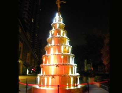 制作大型圣诞树